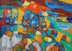 By the sea. 1991, oil on canvas and cardboard, 50x70 cm