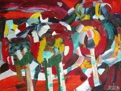 Red trees. 1991, oil on canvas, 60x80 cm
