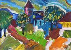 City Dagda. 1984. Oil on canvas and cardboard, 50x70 cm