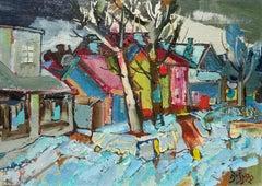 Last snow. 1992, oil on canvas and cardboard, 50x70 cm