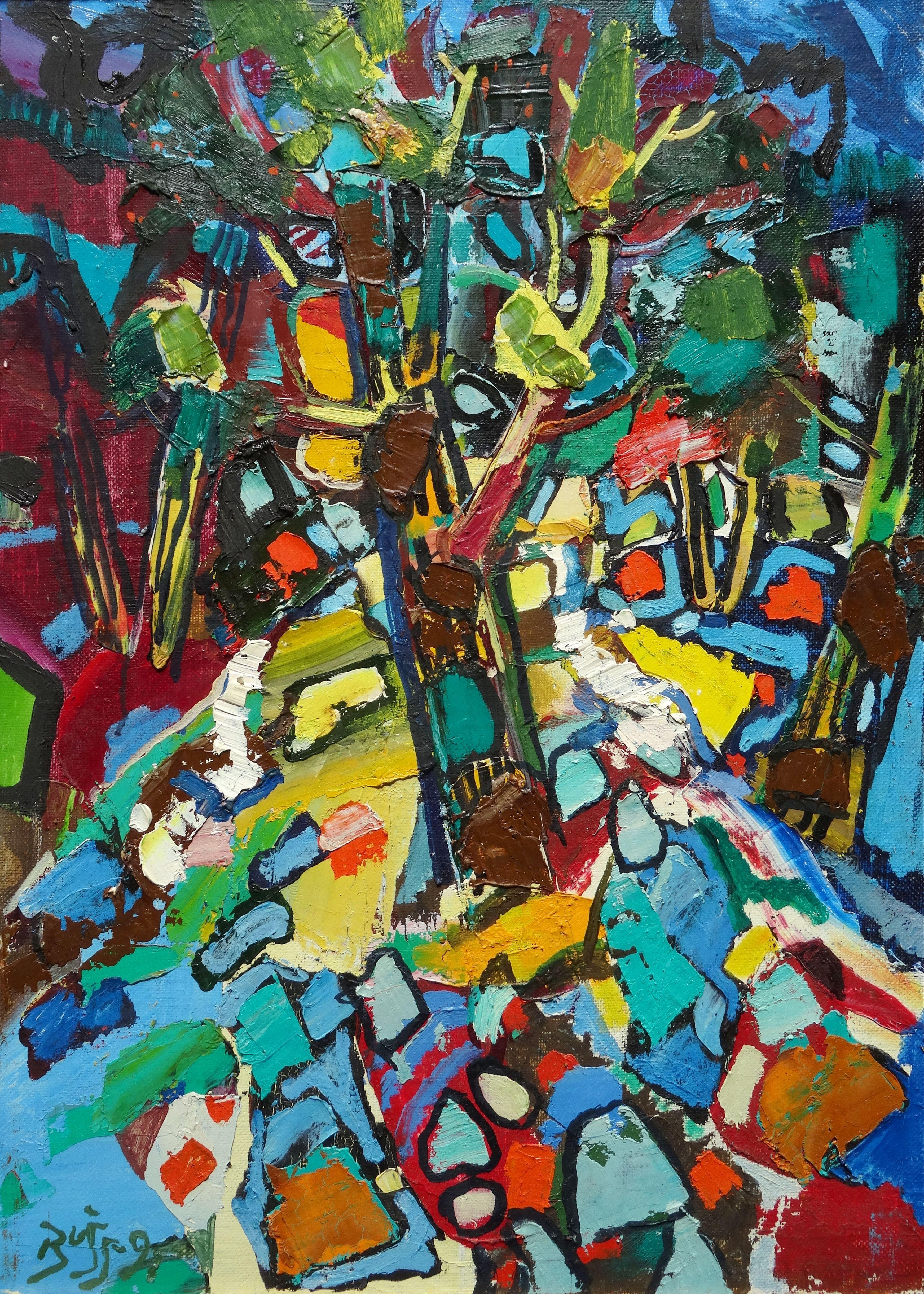 Oak. 1997, oil on canvas and cardboard, 70x50 cm