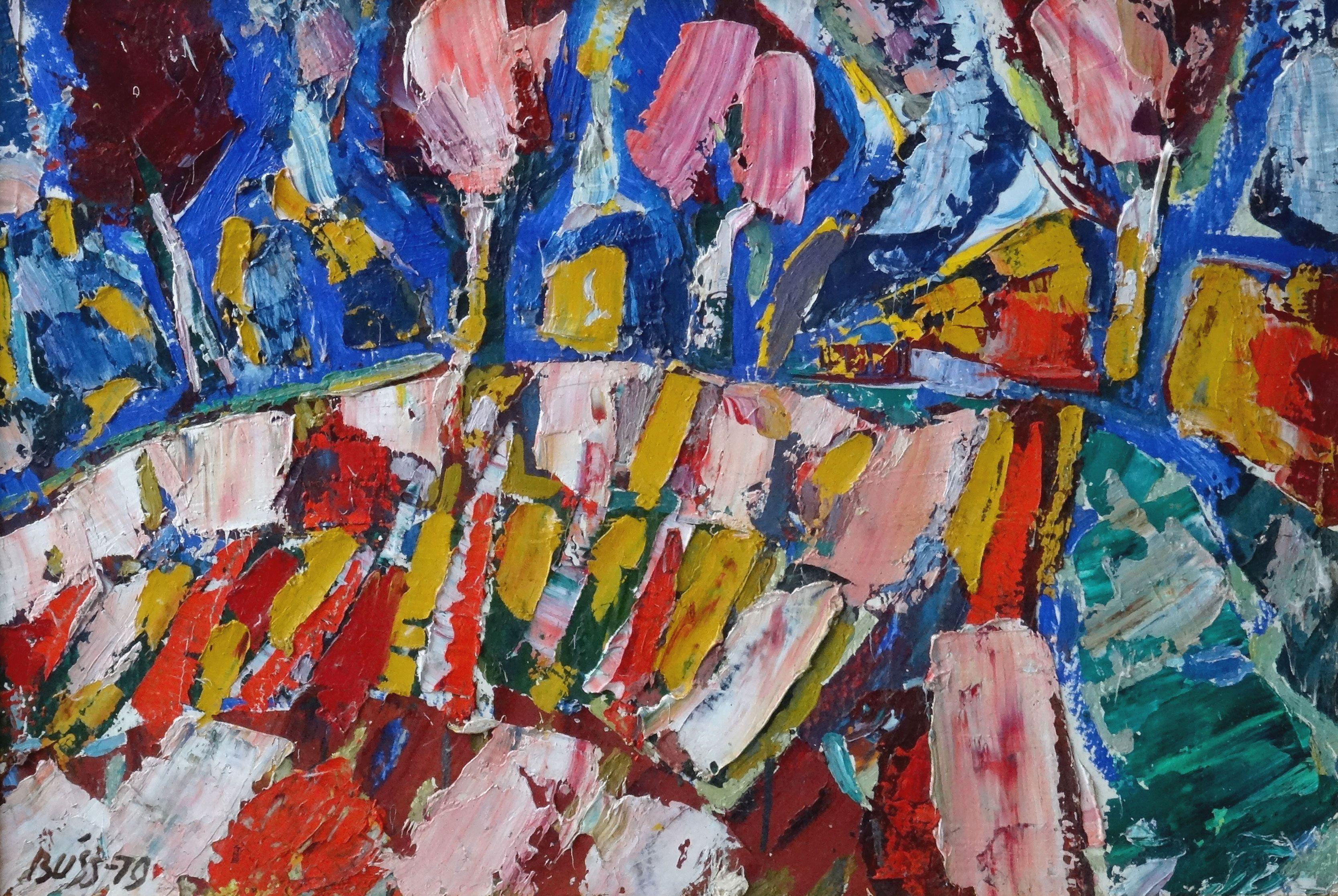 Autumn day. 1979, cardboard, oil, 50x70 cm