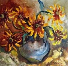 Autumn motif. 1973, paper, watercolor 53.5x55.5 cm