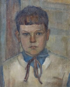The boy's portrait. Ivar. 1950s, oil on canvas, 50x40 cm
