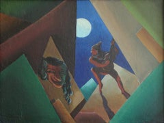 Harlequin. 1923, oil on canvas, 40x53 cm