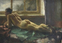 Men's nude. 1925, оil on canvas, 81x116 cm