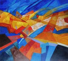 Yellow tango. 2018, oil on canvas, 90x100 cm