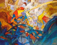 Electric Jazz. 2018, canvas, oil, 90x110 cm