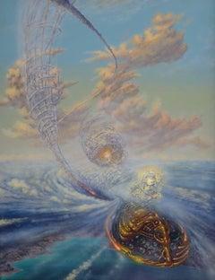 Fantastic journey. 1993, acrylic on canvas, 90x70,5 cm