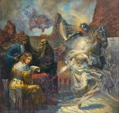 Renaissance dream. Messenger. Acrylic on canvas, 57x59 cm