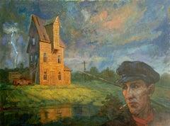 Thunder in Bauska. 2012, oil on canvas, 60x80 cm