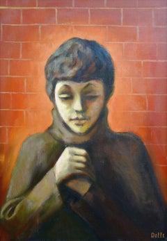 Self-portrait. Oil on canvas, 100x70 cm