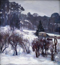 In winter. Oil on canvas, 70,5x66 cm