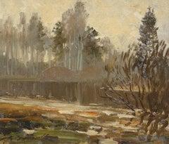 Autumn landscape. Oil on canvas, 30x35 cm