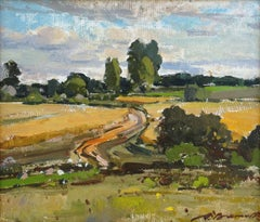 Countryside landscape. Oil on canvas, 30x35 cm