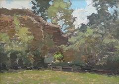 Landscape. Oil on cardboard, 25x35 cm