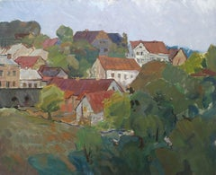 Talsi. Oil on canvas, 59x72 cm