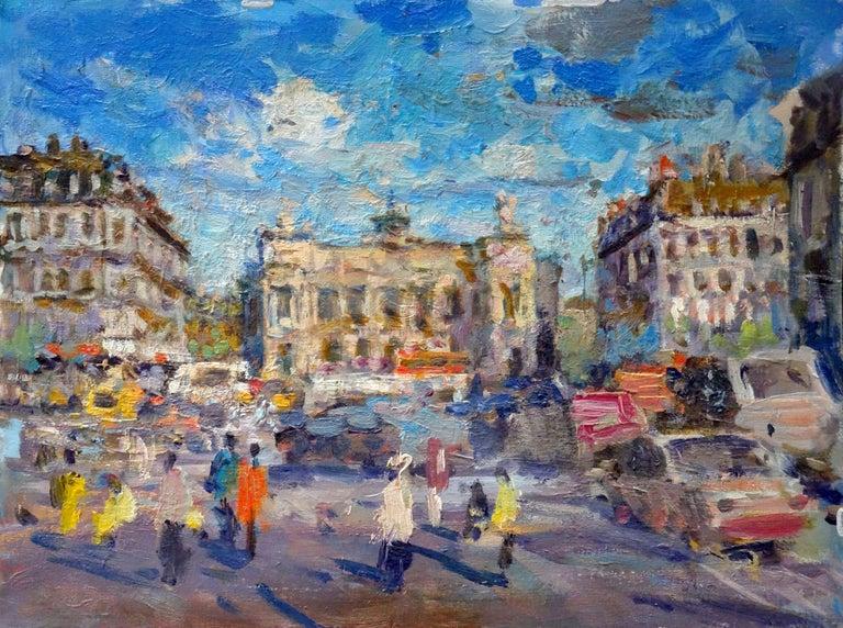 Anatoly Demenko Figurative Painting - Paris. 2009, canvas on cardboard, oil, 30x40 cm