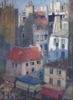 Paris roofs. 1957, oil on canvas, 67,5 x 50 cm