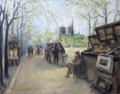 View of Notre Dame. Oil on canvas, 100x132 cm