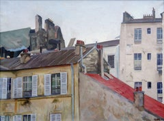 Paris roofs. 1930s. Oil on canvas, 60x80 cm