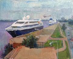 Port. 2017., oil on cardboard, 40x50 cm