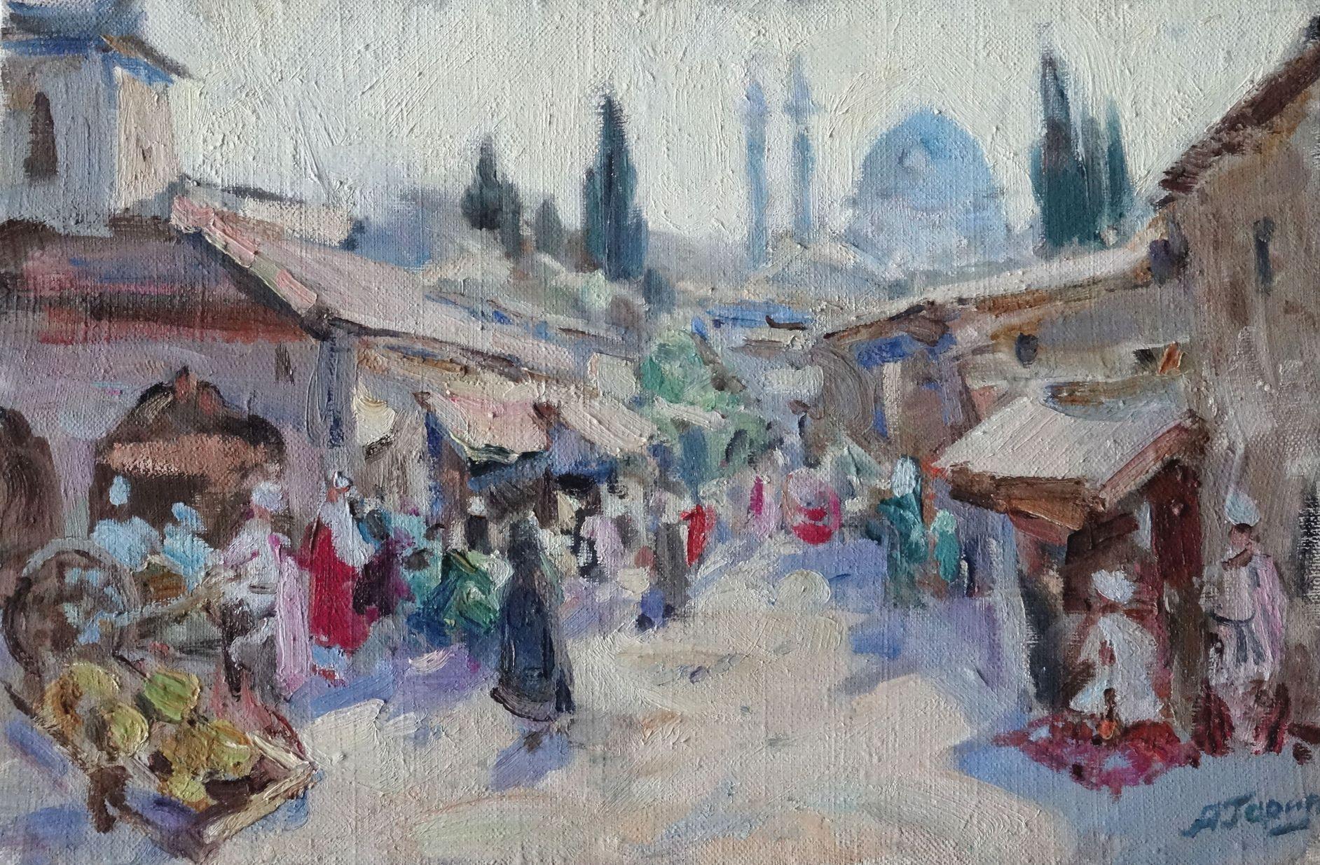 Bukhara. 1995, oil on canvas, 27х41 сm