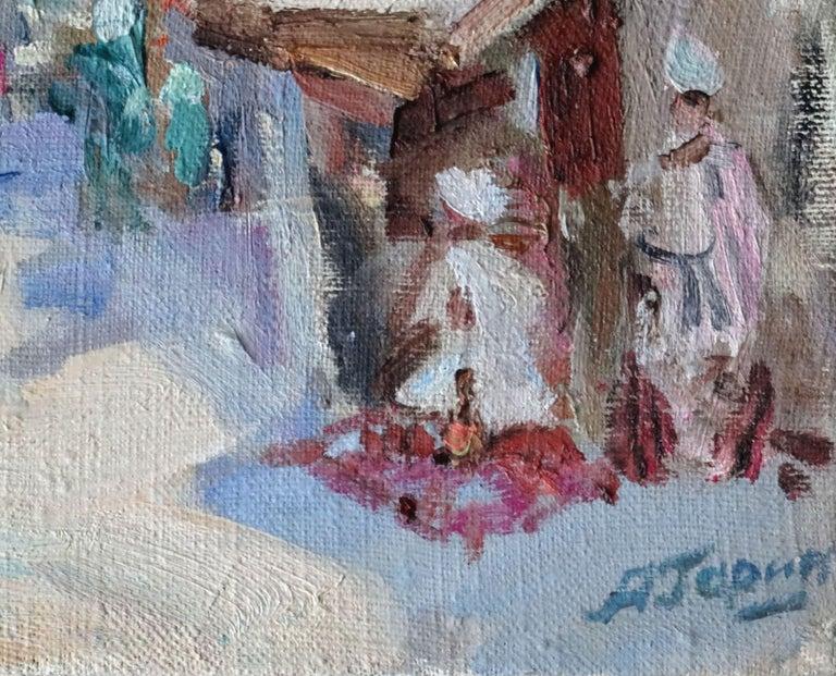 Bukhara. 1995, oil on canvas, 27х41 сm - Painting by Aleksey Garin