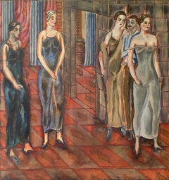 Stage - Opera view. 1935-37s, paper, ink, watercolor, 35,3x24 cm