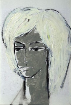 Portrait. cardboard, oil, 50x35,5 cm
