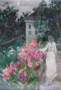 Phloxes. 1995, oil on canvas, 73x50 cm