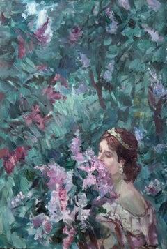 Lilac bouquet. 1995, oil on canvas, 73x50 cm