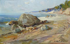 Seashore. Oil on cardboard, 40x62 cm