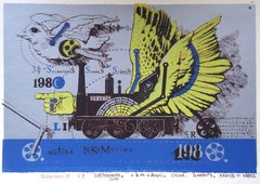 Graphisms & 2. 1980, paper, silk screen, 15x21 cm