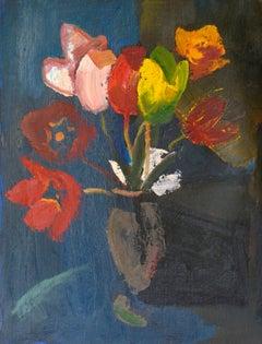 Tulips. Oil on cardboard, 50,5x40 cm