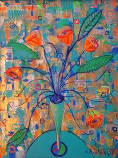Flowers. 1997, acrylic on canvas, 60x46 cm