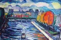 Paris. Oil on cardboard, 42,4x64 cm