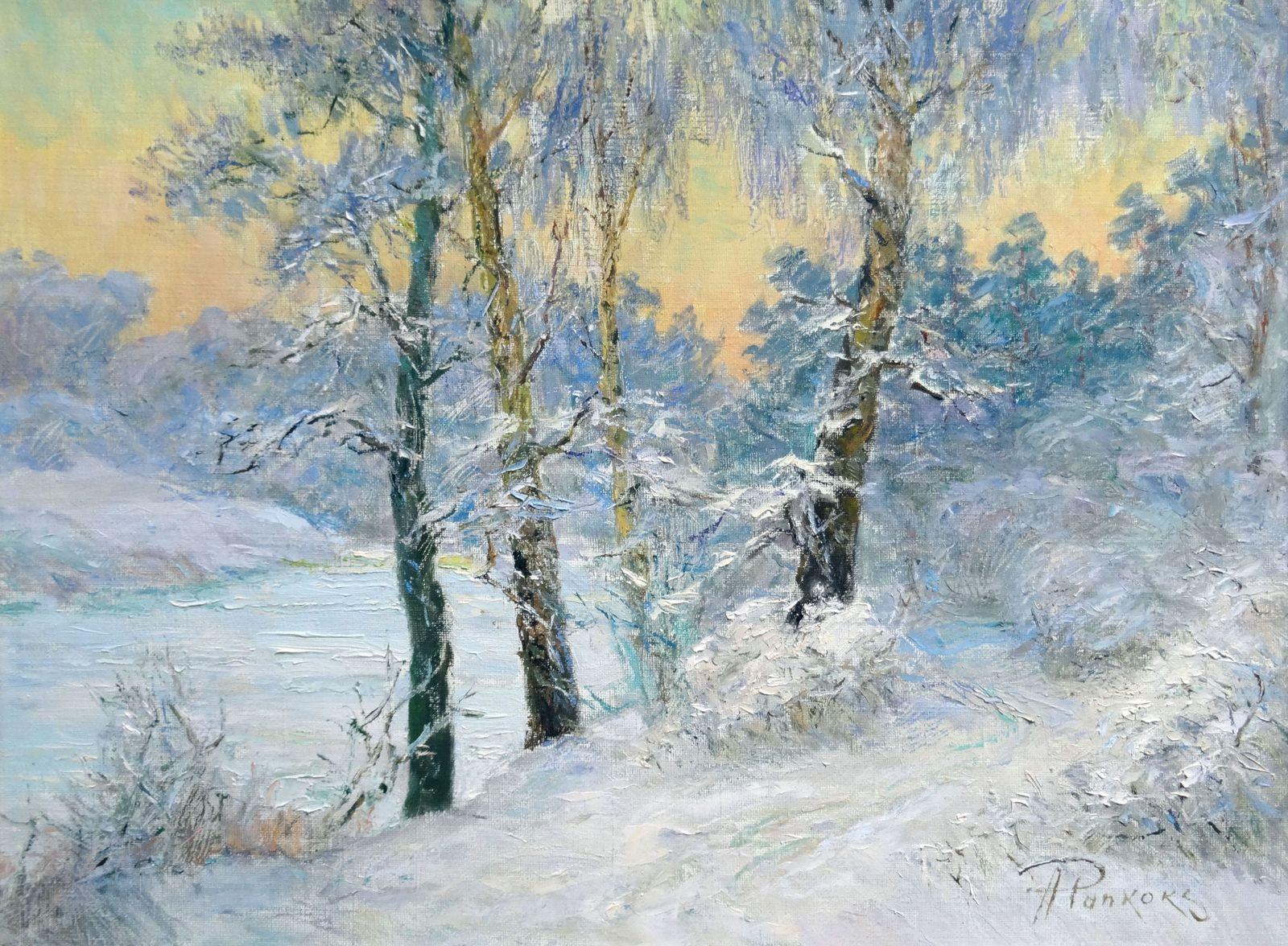 Winter. Oil on canvas, 60x80 cm