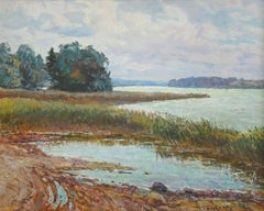 By the lake. Oil on cardboard, 40x50 cm