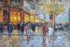 After the rain. Paris. Oil on canvas, 54,5x80 cm