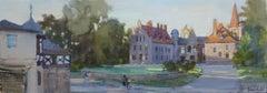 City landscape. 2017, oil on canvas, 25x70 cm