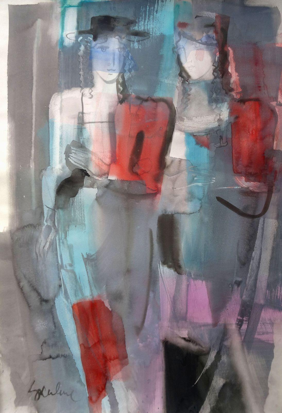 Walk. Paper, watercolor, 102x73 cm