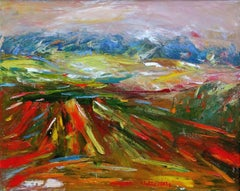 The red field. 2003. Oil on canvas, 82x103 cm