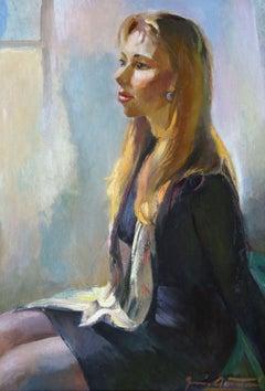 Girls portrait. Oil on canvas, 81x57 cm