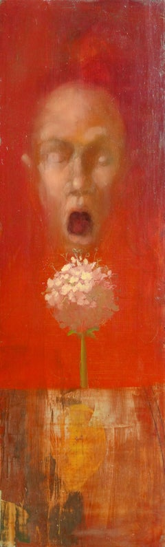 Untitled. 2002, oil on wood, 57x17,5 cm
