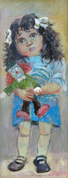 Clown. 2006, cardboard, acrylic, 32x14.5 cm