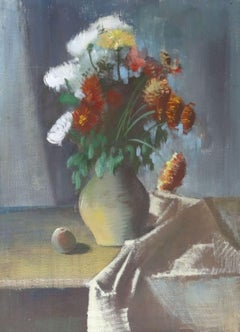 Still life with flowers. Oil on canvas, 110x80 cm