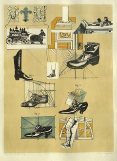 Composition. 66/75., 1971, paper, lithography, 62x46 cm