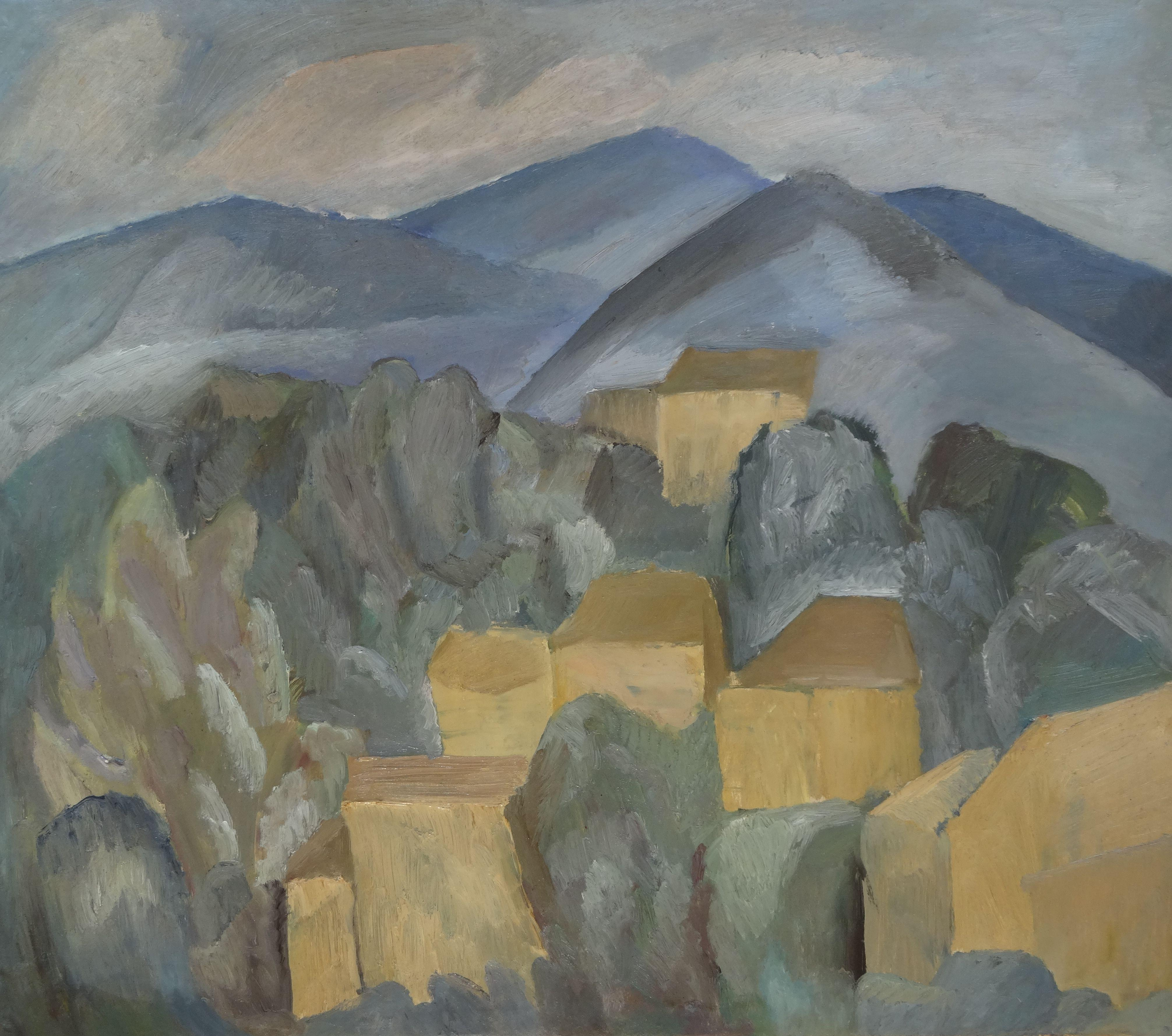Valley landscape. 1962, oil on canvas, 65,5x75,3 cm