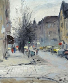 Autumn in the city. 1996, canvas, cardboard, oil, 65x54 cm